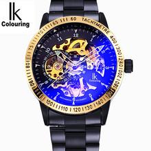 Подлинный apa изысканный нефрит наручные часы мужской автоматический механически таблица сталь мужские часы пирсинг водонепроницаемый серебристые большой циферблат запястье стол