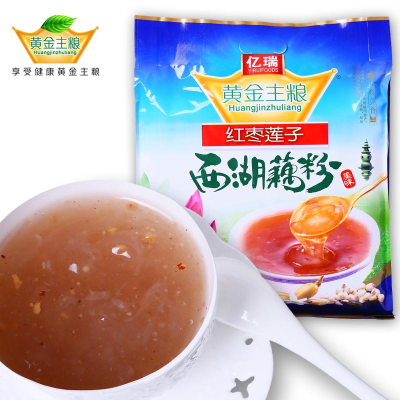 亿瑞黄金主粮西湖藕粉杭州特产红枣莲子藕粉700克(送不锈钢勺)
