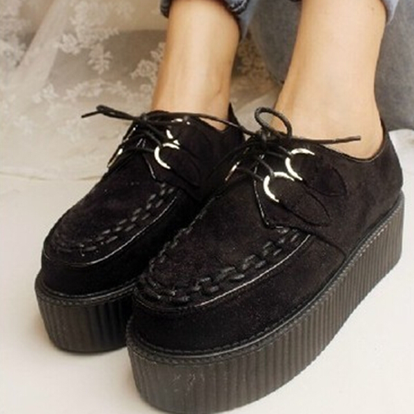 2020 Japanese Lolita style big head muffin shoes spring and autumn new thick soled shoes Harajuku style womens shoes vivi fashion single shoes