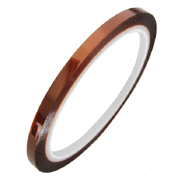 Высокая температура лента 6MM высокотемпературные лента темно-коричневый лента клей бумага