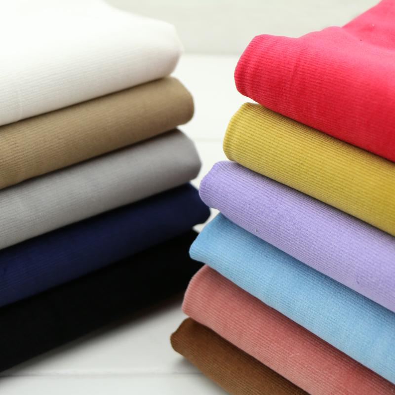优质纯棉弹力灯芯绒面料 中细条纹中厚条绒布秋冬装外套裤子布料