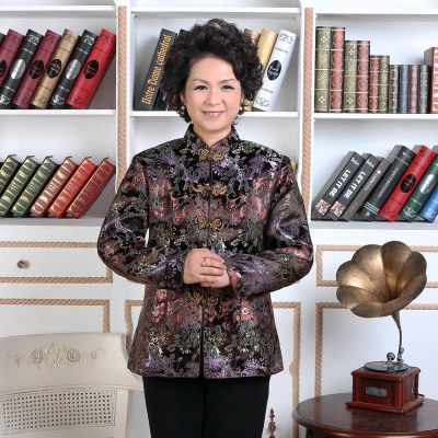 Female Middle Aged And Old Womens Wear Tang Suit Coat Autumn Outfit Grandma Of The 70