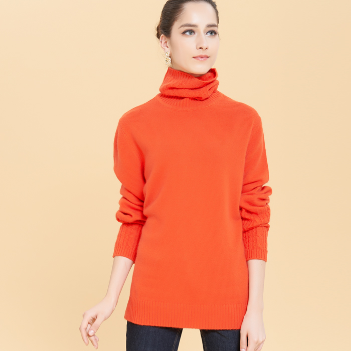 高品质时尚气质加厚加肥加大羊绒衫胖MM大码女装大码女士毛衣