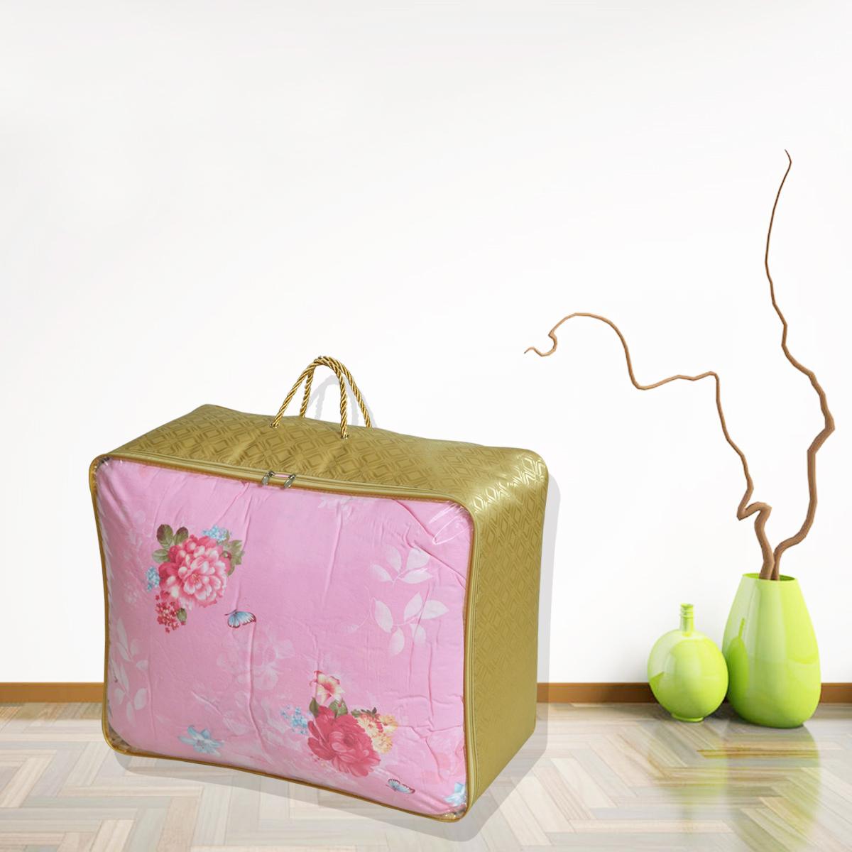 钢丝支撑加厚牛津布搬家袋防水收纳袋 单面透明窗棉被袋