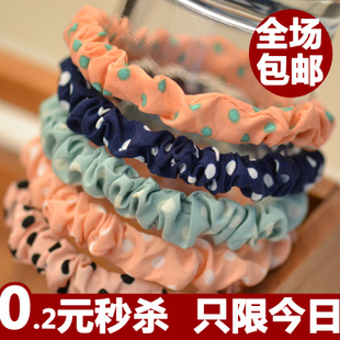 Pure essential dot tie hair hair ring hair lashing headrope fold elastic rubber band hair jewelry wholesale Korea