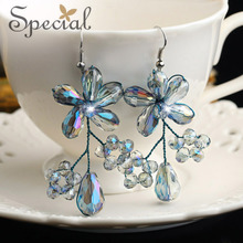 Special allergy free earrings temperament of European and American fashion stud earrings earrings accessories night 2015 new orchid