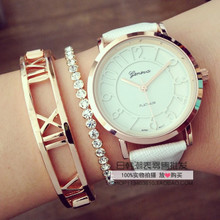 Speed sell through ebay Geneva euramerican popularity trend fashion watches with ms word hollow out belt student table