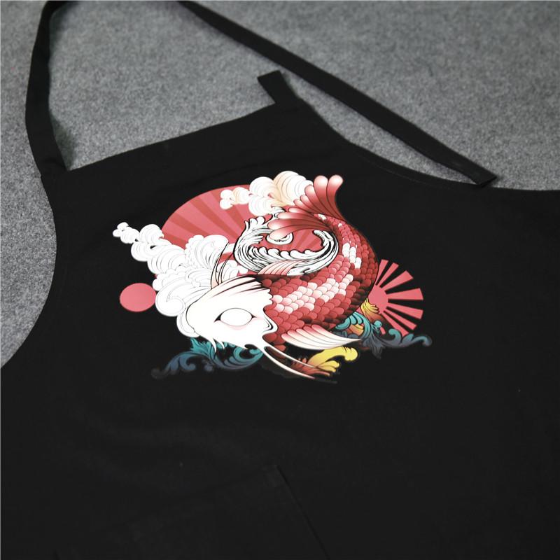 日式围裙纯棉帆布防污/防泼水厨房时尚情侣创意男女家务纯色围兜
