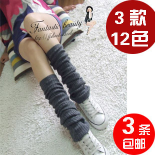 Rabbit wool sock female Korean student knee stockings piles of socks leg sets long arm sleeve 3
