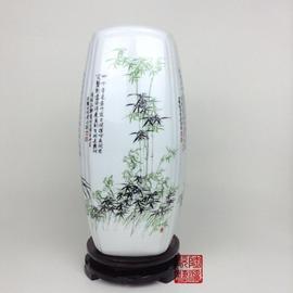富贵竹插花瓶水培白色景德镇小陶瓷器客厅摆件家居装饰品梅兰竹菊图片