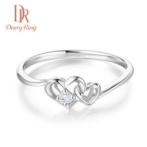 DarryRing戴瑞DR结婚钻石戒指求婚钻戒18K白金女戒珠宝正品定制