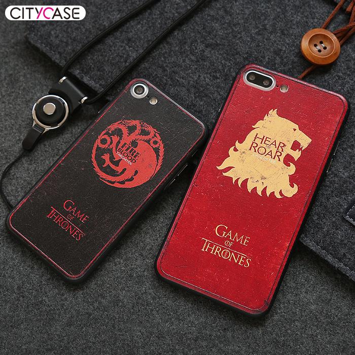 citycase iphone7plus手机壳8硅胶套冰与火之歌苹果7个性潮牌情侣