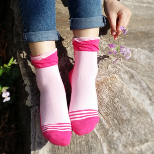Six pairs of socks female cotton socks relent socks breathable and comfortable lovely socks student socks 1673