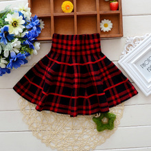 New in the fall and winter of 2015 Short skirt of the girls skirts child sweater pleated skirt