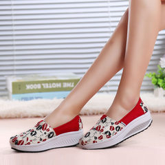 MI Ka 2015 new women shake shoes with wedges in the Korean version of the cake recreational shoes asakuchi shoes platform