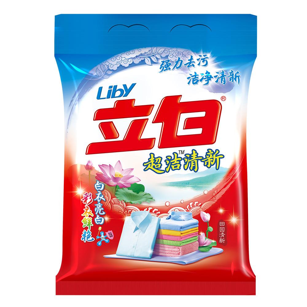 ~天貓超市~立白洗衣粉超潔清新洗衣粉3.208kg袋裝清香不傷衣