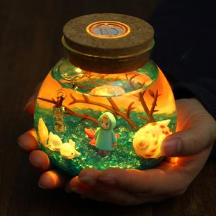 DIY手工景致玻璃瓶 软萌少女的生日礼物