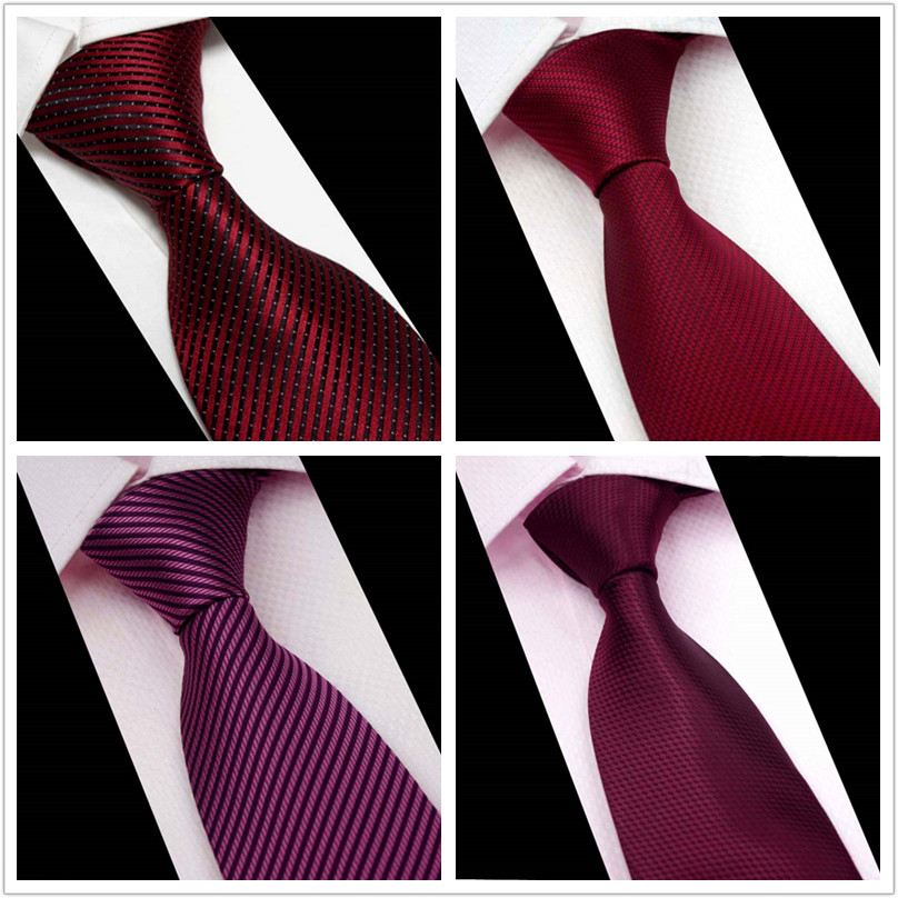 8cm red mens formal wedding tie business formal tie Korean bridegroom and best man slightly narrow tie