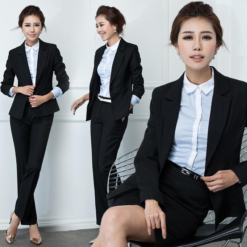 艾尚臣女士修身職業裝套裝 OL白領麵試正裝套褲 秋裝麵試裝工作服