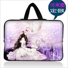 Flowers laptop bag computer bag portable bladder bag men and women handbags, 13 14 inches 15.6 can DIY custom