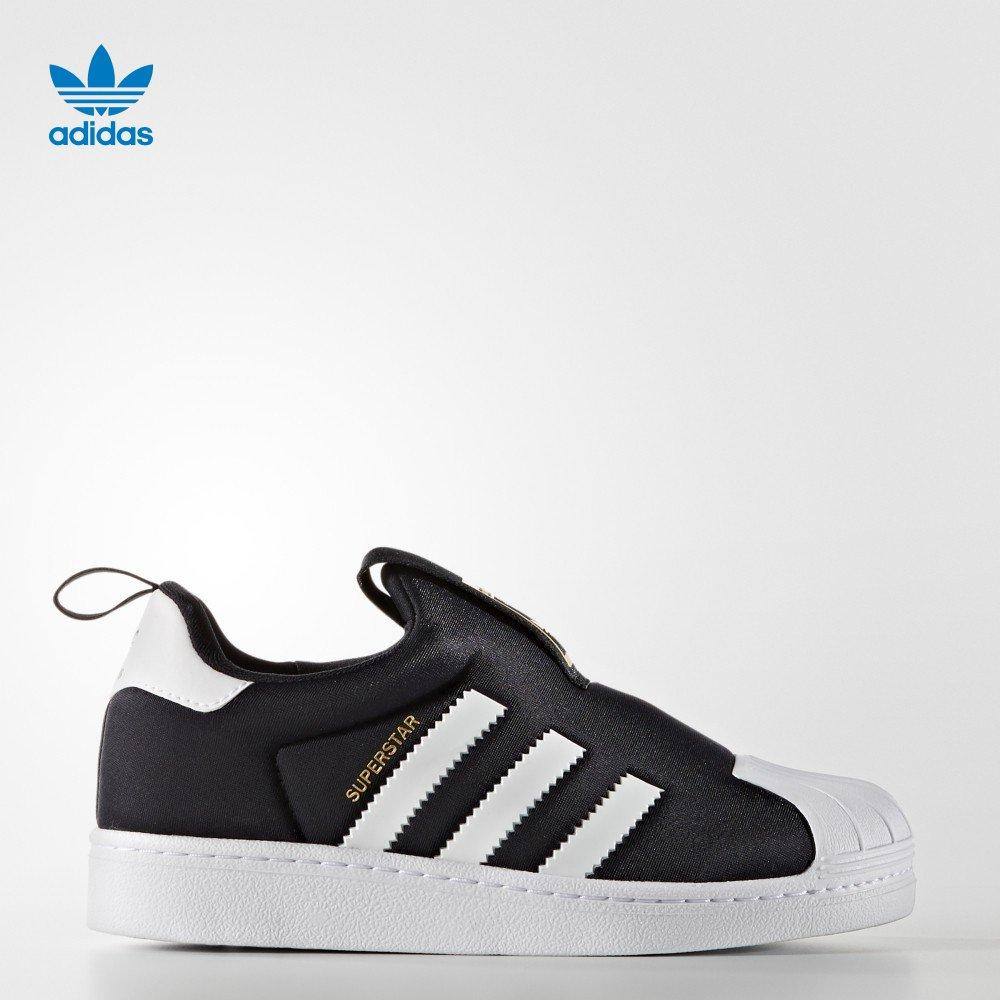 Adidas клевер мужчина дети Superstar классическая обувной 1 размер черный S32130
