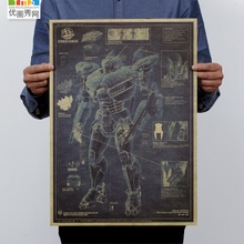 Fierce battle walker Australia Pacific rim eureka drawings kraft paper, adornment picture poster design