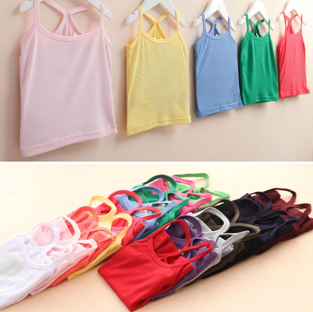 Летом 2016 девочек Детская одежда ребенка дети корейской версии конфеты цветные жилет без рукавов футболки тонкий женщина TX-0985