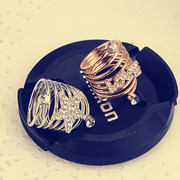 Pack email Korea jewelry flower diamond ring opening simple atmospheric aristocratic temperament rings women