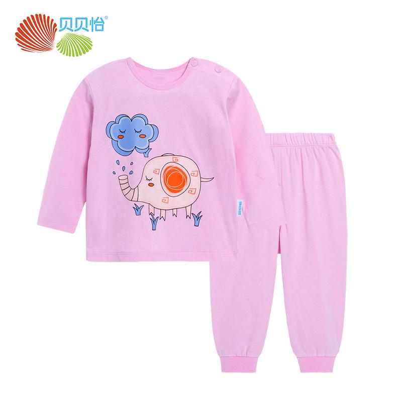 贝贝怡童装宝宝卡通套装春秋纯棉长袖婴儿衣服儿童外出服