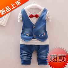 Infants and young children in the fall of 2015 the new boy's suit children long-sleeved cotton baby autumn outfit two-piece han edition
