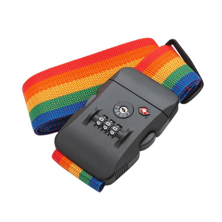 出國TSA海關密碼鎖綁箱帶旅行箱捆綁帶拉杆箱打包帶行李箱綁帶