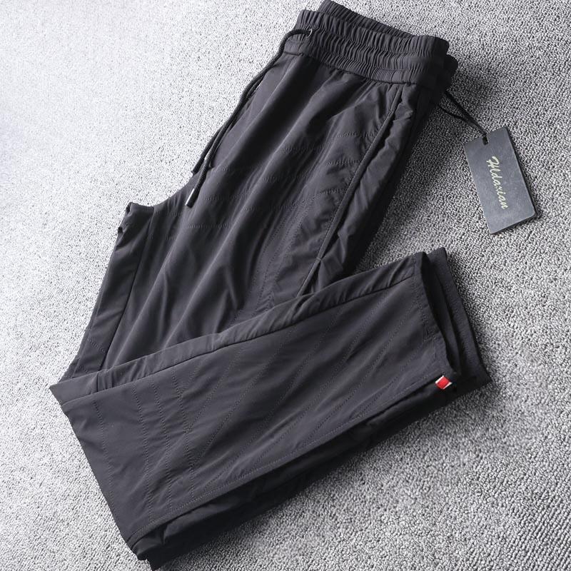 特直筒抽绳长裤防寒保暖不显臃肿男外穿休闲裤高端品质DXIAN