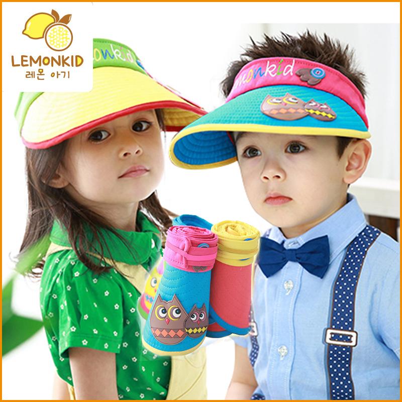 亲子男童女童帽子儿童太阳帽夏天儿童帽子遮阳帽宝宝空顶帽潮大檐