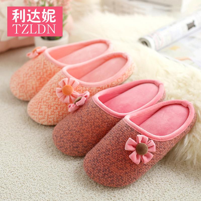 春 居家防滑軟底棉拖鞋女室內日式家居孕婦產婦月子拖鞋四季