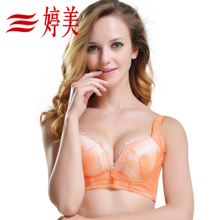 Ting Mei Fei Linna genuine deep V sexy bra United States back a small chest gather Ms larger chest adjustable bra