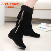 2015 winter season increases within the new Korean fashion flat suede boots casual boots Knight boots