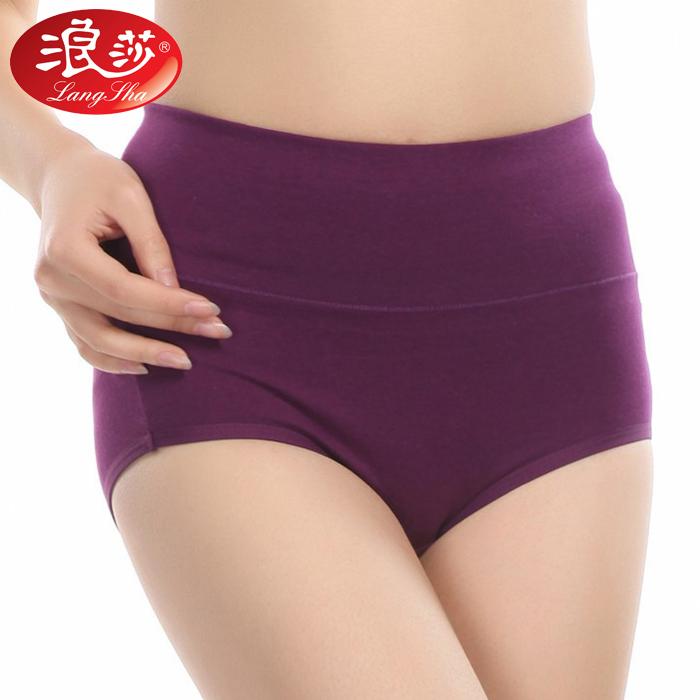 ロンサの全綿の高腰のズボンの女性の三角形のズボンは尻を持ってズボンの太いMMの大きいサイズのズボンの頭の純綿の質の綿の材料を収めます。