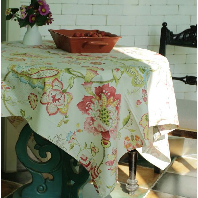 Пьер хлопок Перегруженный с цветами обеденный стол ткань скатерть декоративный ткань может когда лист из изысканный тендер как провод из хлопок