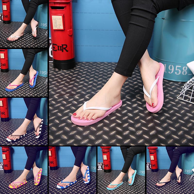 2016 Летние пары флип-флоп Сандалии и тапочки для мужчин и женщин обувь не нескользкие мягкое дно с Ущипнуть плоский Корейский Тапочки