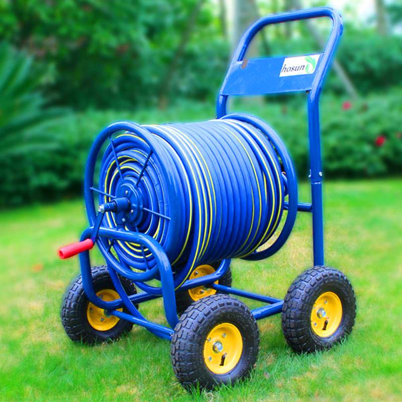 弘晨 轮式手推大型可绕80-160米金属 水管收纳车架水管车洗车浇花