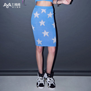 Seven space space OTHERMIX new star Jacquard knit dress spring/summer 2015 hip skirt skirts