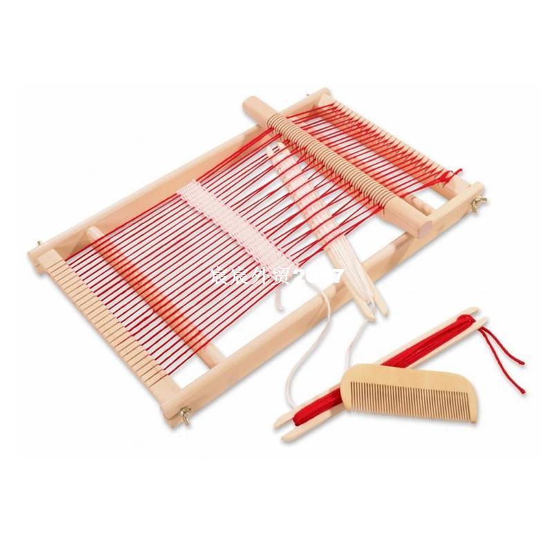 baby toys pretend play toys wooden traditional weaving loom