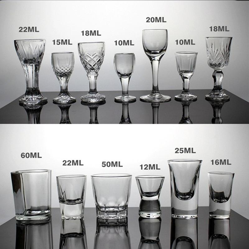 特价白酒杯小烈酒杯一口杯超小酒盅透明玻璃杯高脚云吞杯 子弹杯