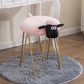 创意铁艺化妆凳小羊拆洗凳子北欧设计师家具梳妆凳美甲店矮凳