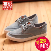 Becky's autumn new style low cut lace canvas shoes men Korean sport casual men's shoes shoes shoes with flat post
