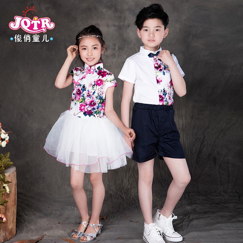 六一兒童節合唱服青花瓷舞蹈服表演服裝小學生校服大合唱演出服女