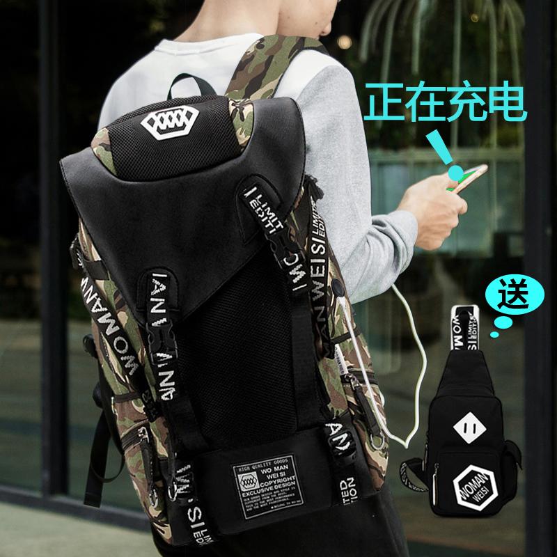 Плодородный человек висконсин корейский студент портфель мужчина компьютер пакет тенденция большой потенциал рюкзак мужчина случайный рюкзак путешествие пакет