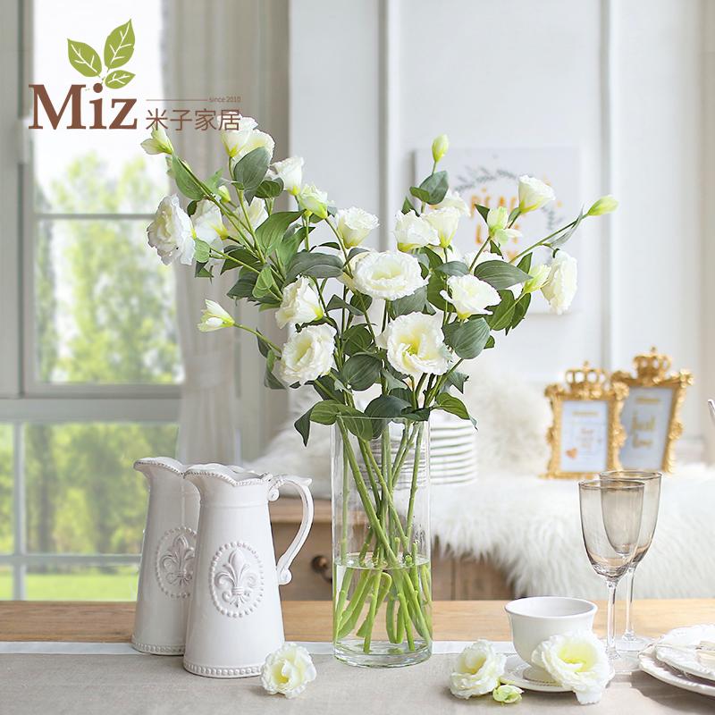 歐式仿真花假花套裝 客廳居家飾品幹花絹花 早安桔梗花整體花藝