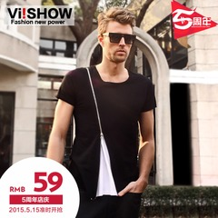 Viishow short sleeve t-European style solid color skinny style t trends summer styles zippers