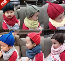 Package mail private baby hat cap han edition children hat pointed hat knitting wool hat personality